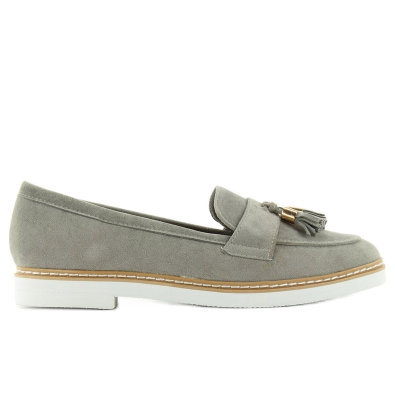 Classic ladies' loafers 7101 Gray grey