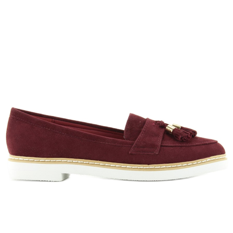 Classic ladies loafers 7101 D. Red multicolored