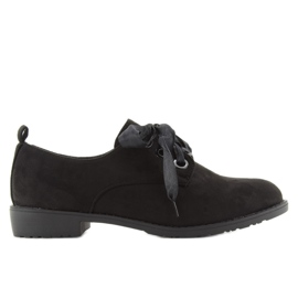 Loafers shoes lace-up LL-86 Black