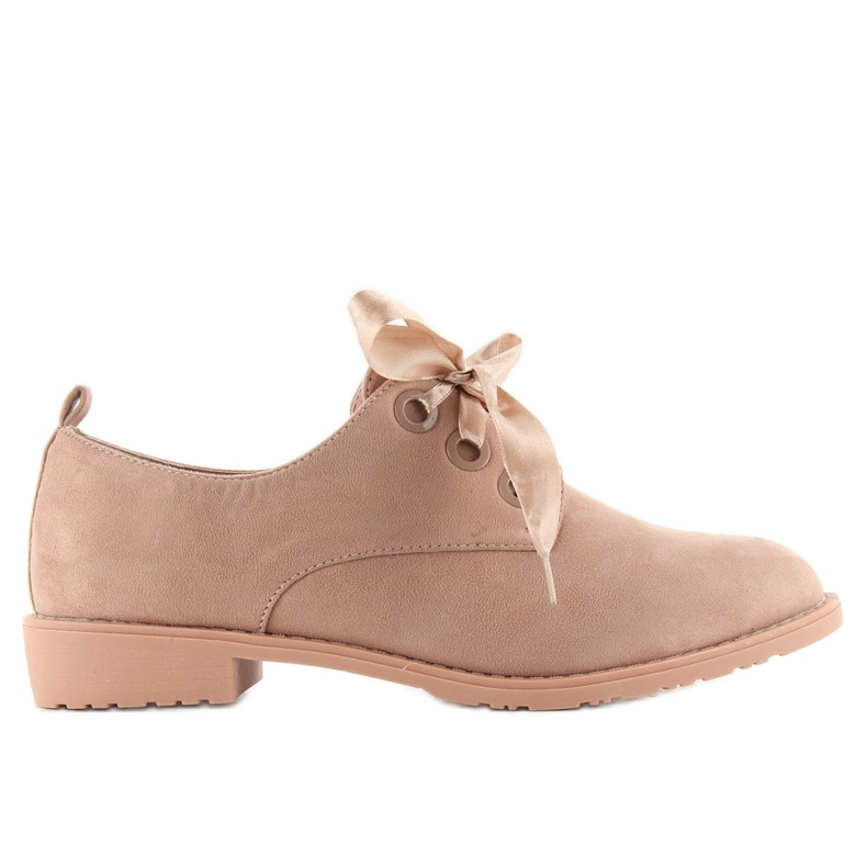 Loafers shoes lace-up LL-86 Pink