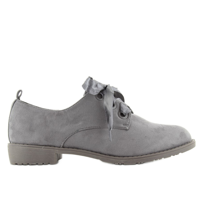 Loafers shoes lace-up LL-86 Gray grey