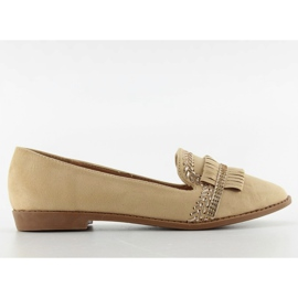 Moccasins lordsy decorated with Apricot sk33p brown