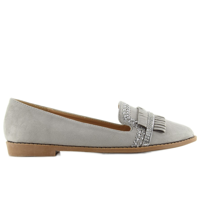 Loafers lordsy decorated with gray Sk33p grey