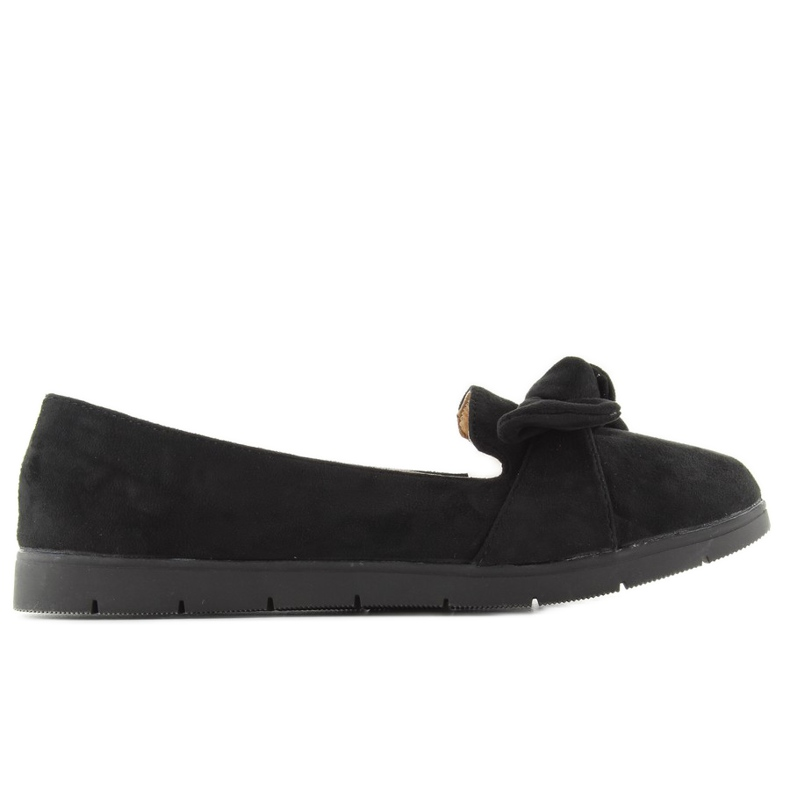 Suede ballerina with bow sk37p Black