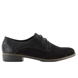 Loafers for women lace-up mb-6390 black