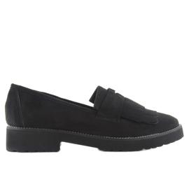Women's moccasins high F173p black sole