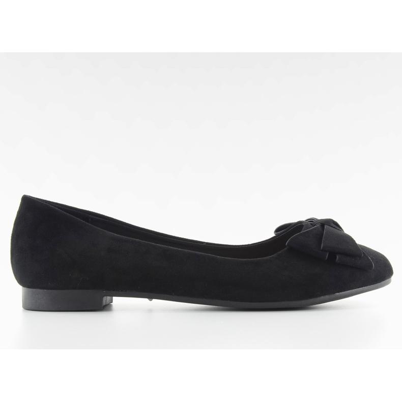 Women's ballet shoes suede t291p black