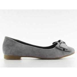 Women's ballet shoes suede t291p gray grey