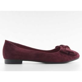 Women's ballerinas suede t291p wine red