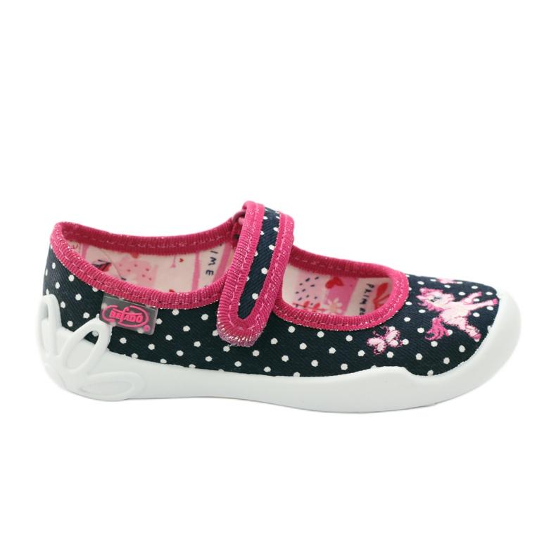 Befado children's shoes ballerina slippers 114x253 navy pink white