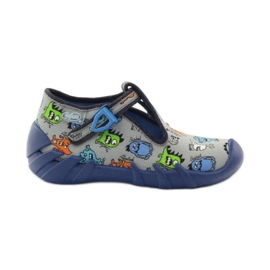 Slippers boys Befado 110p308 grey blue