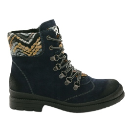 Insulated leather workers Filippo 393 navy