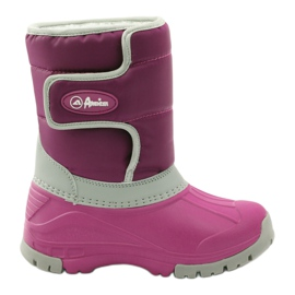 American Club Winter boots super light American boots pink grey
