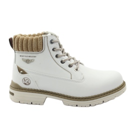 McKey white Winter boots laced 400
