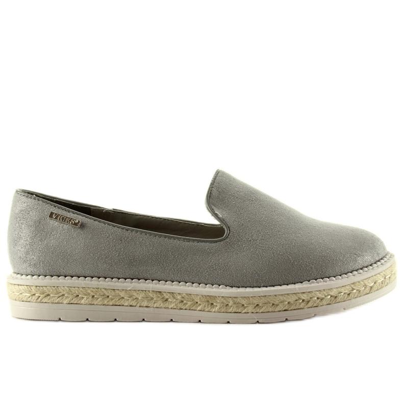 Slipony espadrilles pearl 6081 Gray grey
