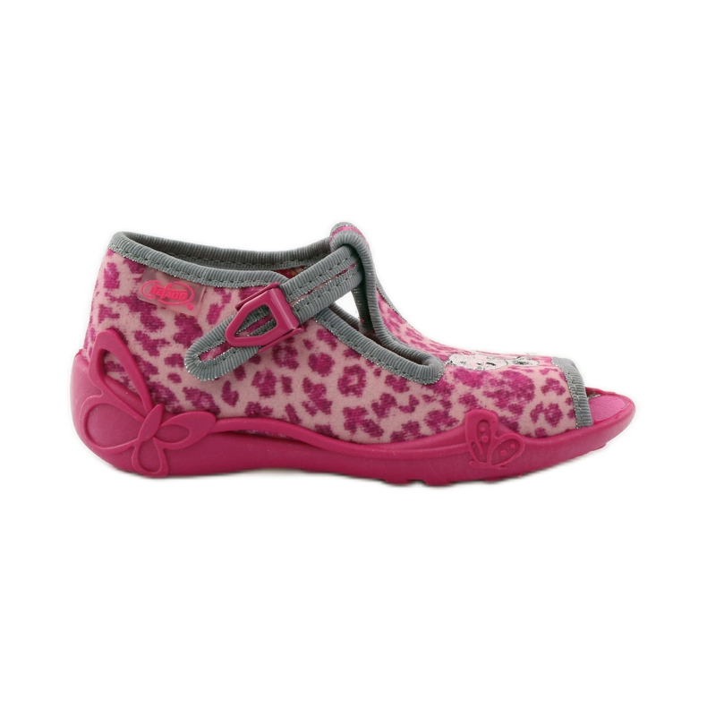 Panther slippers Befado 213P100 kitty roses pink