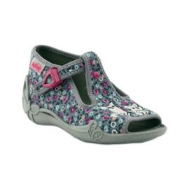 Slippers two female Befado 213p099 gray pink grey