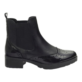 Caprice boots boots Jodhpur boots 25405 black
