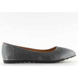 Satin gray ballerinas A8621 gray grey