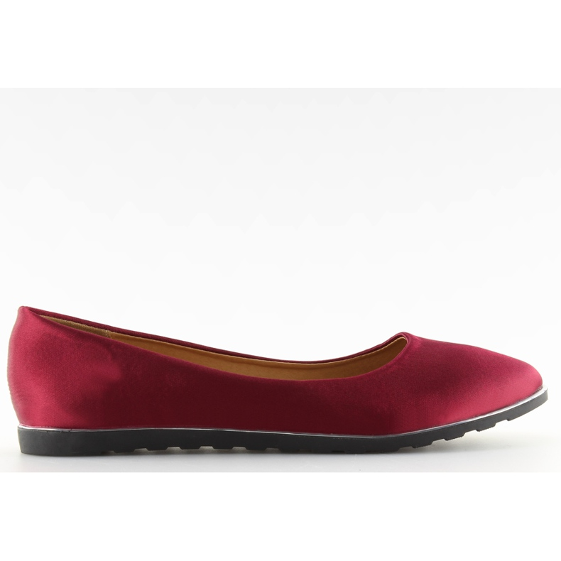 Satin maroon ballerinas A8621 red