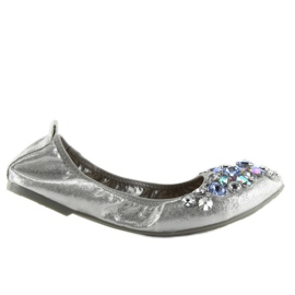 Ballerina with silver stones C87 silver grey