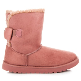 Suede Muklki With A Bow pink