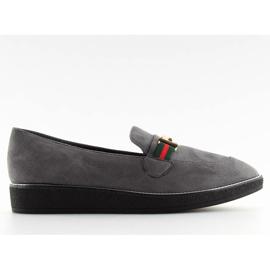 Women's loafers gray gray S0-204 gray grey