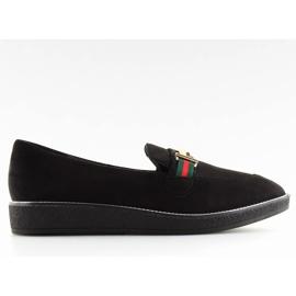 Women's loafers black S0-204 black