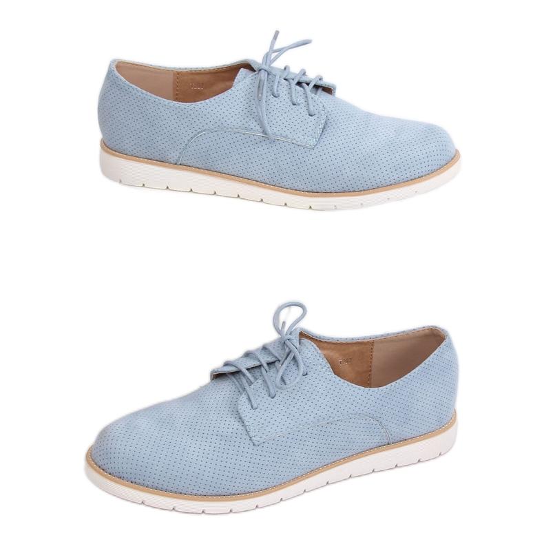 Women's moccasins lace-up blue T297 Blue