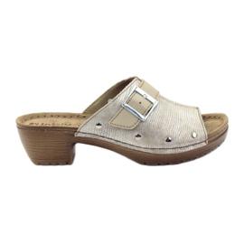 Slippers clip INBLU BL061 silver beige