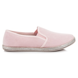 Mckeylor Suede espadrilles slip on pink