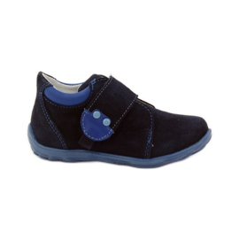 Boys' shoes with velcro Ren But 1476 navy blue