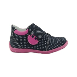 Girls' shoe with dots Ren But 1476 navy pink blue white