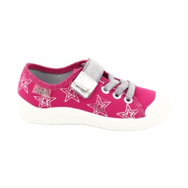 Slippers girls' sneakers with stars Befado 251X096 pink grey