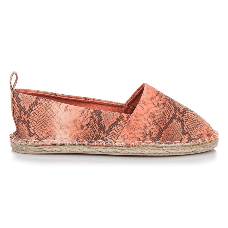 Mckeylor Espadrilles with an animal pattern pink