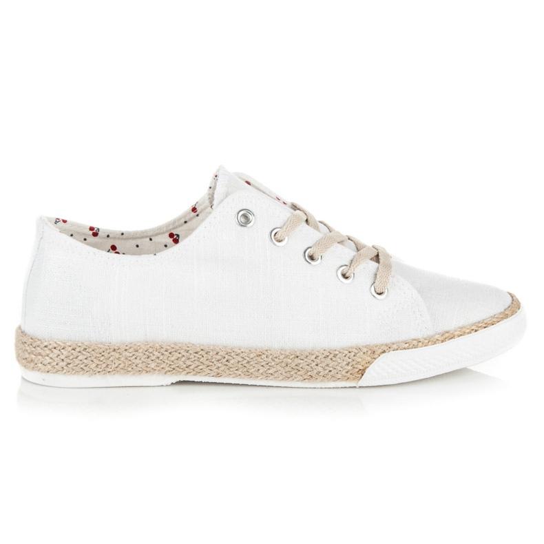 Kylie Lace-up espadrilles white
