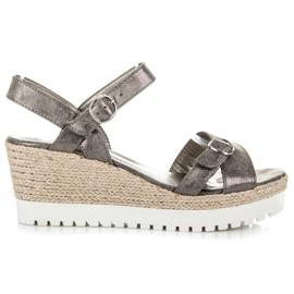 Kylie Espadrilles Silver Sandals grey