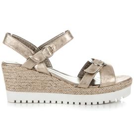 Kylie Golden espadrilles sandals