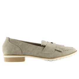 Women's loafers gray 1174 Gray grey