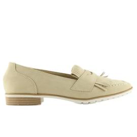 Loafers for women beige 1174 Beige