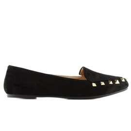 Women's moccasins with black 1388 Black studs