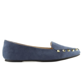 Women's moccasins with nails 1388 Navy