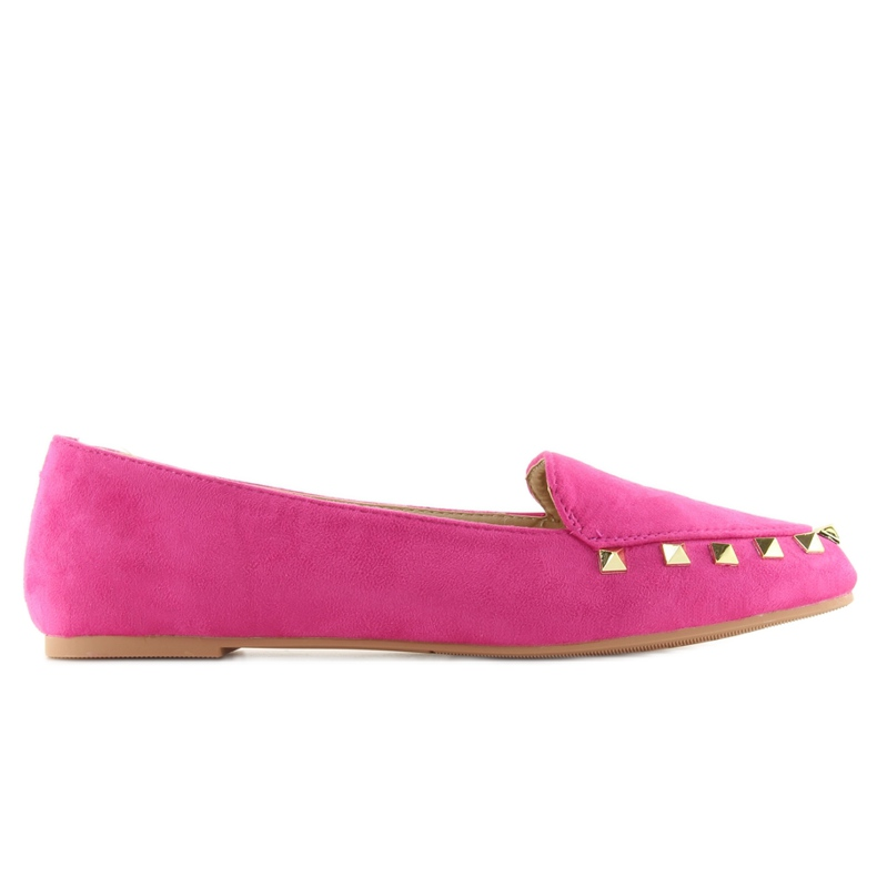 Women's moccasins with studs Fuchsia 1388 pink