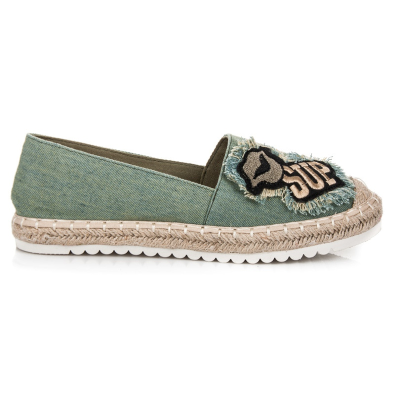 Espadrilles With Patches green
