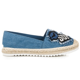 Espadrilles with patches blue