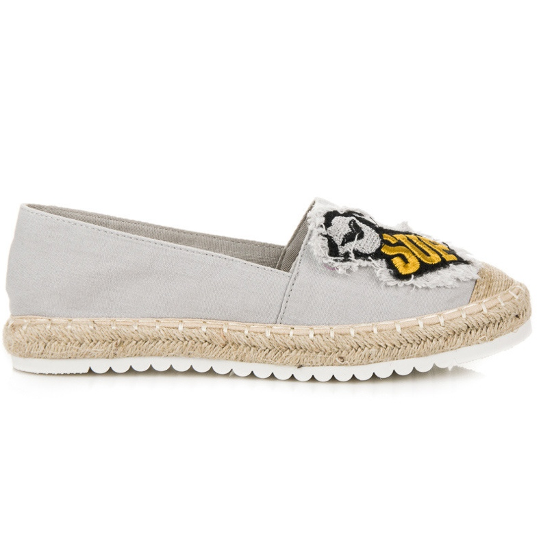 Espadrilles with patches grey