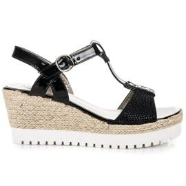 Kylie Espadrilles on wedge heels black