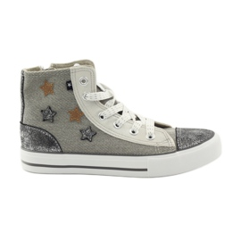 Sneakers tied in Big star 374068 grey