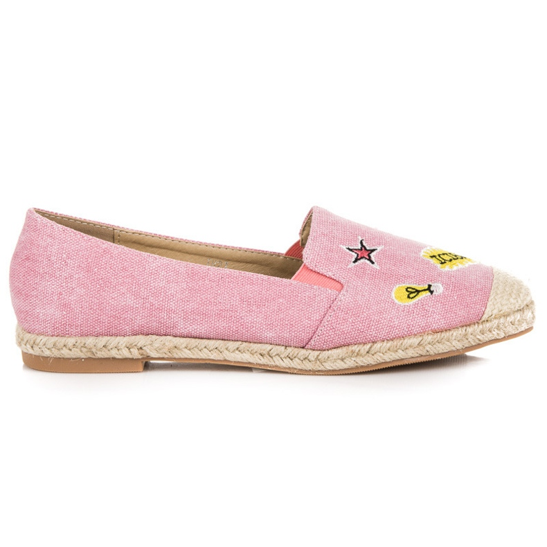 Seastar Espadrilles with patches pink