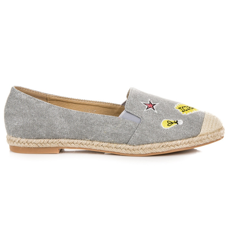 Seastar Espadrilles with patches grey